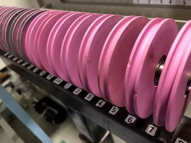 wire processing pulleys
